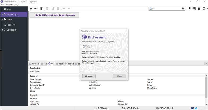 Descargar BitTorrent Pro 7.1