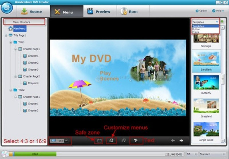 Descargar wondershare DVD Creator