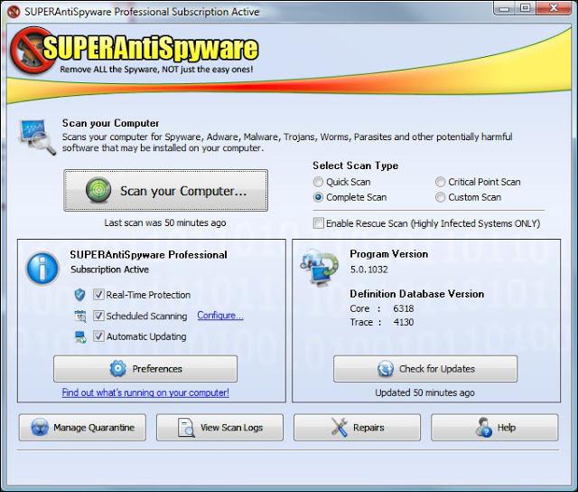 SUPERAntiSpyware Professional 8.0