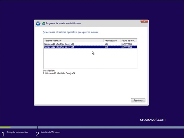 windows 10 ligero MiniOS